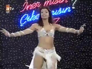 Turkish Belly Dance ,Tanyeli in white - 1993.flv