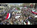 Sanaa streets flooded with people protesting against Saudi led blockade