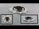 Beading4perfectionists: Spidey in web earrings / pendant advanced beading tutorial