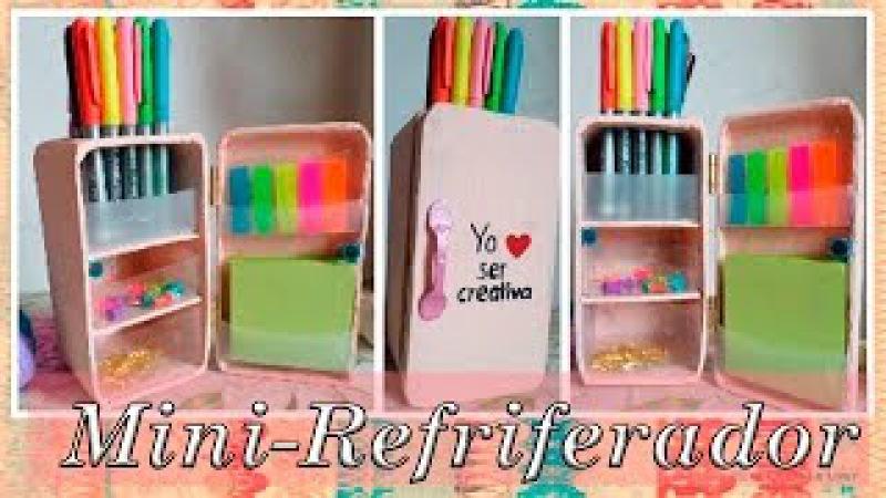DIY| Haz un mini-refrigerador | Organizador de escritorio | lindo y facil
