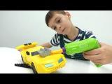 #Трансформеры #игрушки #Бамблби трансформер в мастерской у Дениса  Видео для м ...