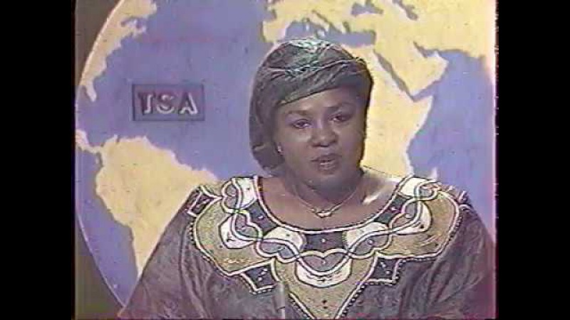 TV-DX Tele Sahel opening, news and closedown 17.11.1993