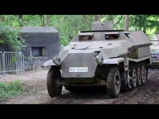 Militracks 2015 - Procession of StuG III, Sd.Kfz. 250, Sd.Kfz. 251 Hetzer