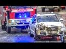 RC truck and car dangerous goods CRASH! Big rescue action!