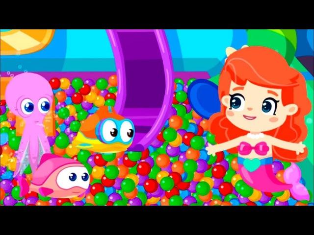 BiBaBu ÇizgiFilm. Deniz Kızı 🧜♀️ ve Top Havuzu. Şekillerin isimleri öğren!