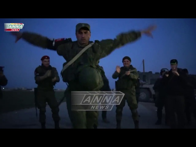 Syrian, Russians, Kurds and Chechens dance together
