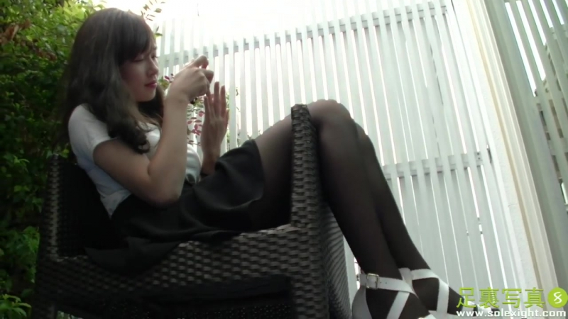Asian sexy stockings Sole Feet Femdom Worship - Model Laura with Solexight.com