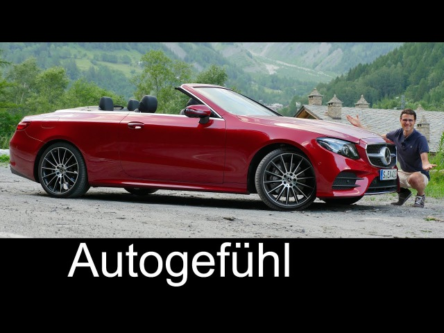 Mercedes E-Class Convertible FULL REVIEW test E-Klasse Cabriolet - Autogefühl