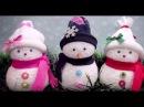 Новогодние поделки МК Снеговик из носка своими руками. Поделки на Новый год 2017.