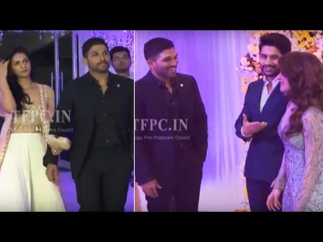 Stylish Star Allu Arjun @ ChaySam Wedding Reception TFPC