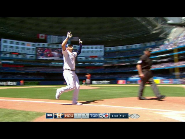 HOU@TOR: Donaldson launches a three-run homer in 5th