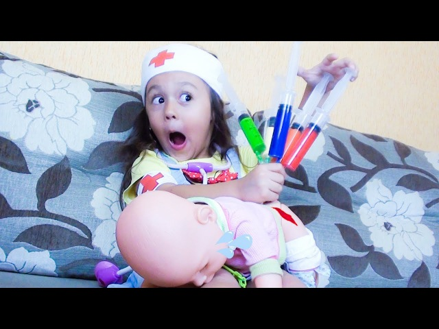 Сrying Babies! Accident! Bad baby Playing Doctor Learn Colors With injections Finger Family Song