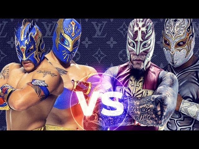 Rey Mysterio and Sin Cara (Mistico) Vs. Kalisto and Sin Cara (Hunico) Masked Marvels HD