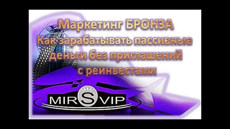 MIRSVIP сервис для продвижения вашего бизнеса Часть БРОНЗА в маркетинге
