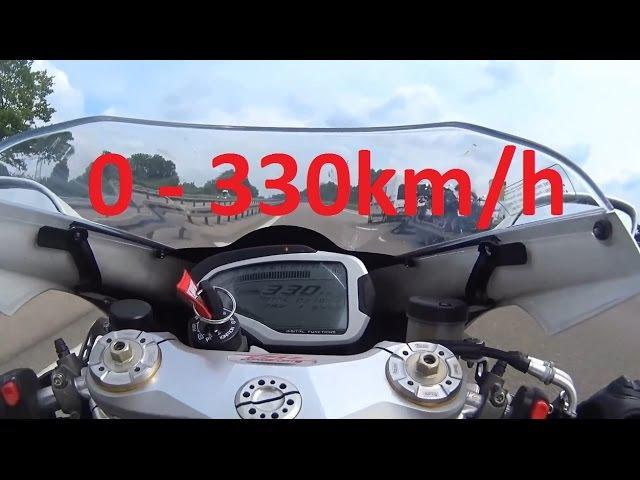 MV Agusta F4 RR - Acceleration 0-330km/h Startup Exhaust Sound Dyno