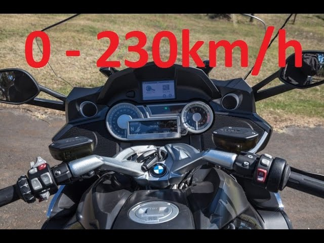 BMW K1600 GT (2011 - 2017) - Acceleration 0-230km/h Startup Exhaust Sound Burnout Wheelie