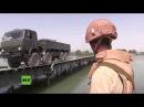 Russische Armee baut innerhalb von 48 Stunden Brücke über Euphrat in Syrien