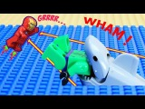 LEGO Shark Attack LEGO Hulk saved by Iron Man Brick Stop Motion