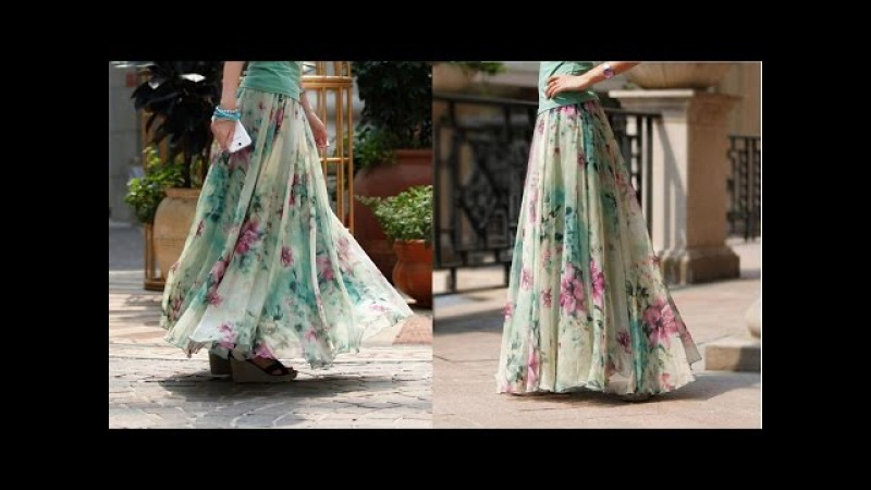 Umbrella cut skirt with full gathers DIY drafting cutting and stitching step by step tutorial