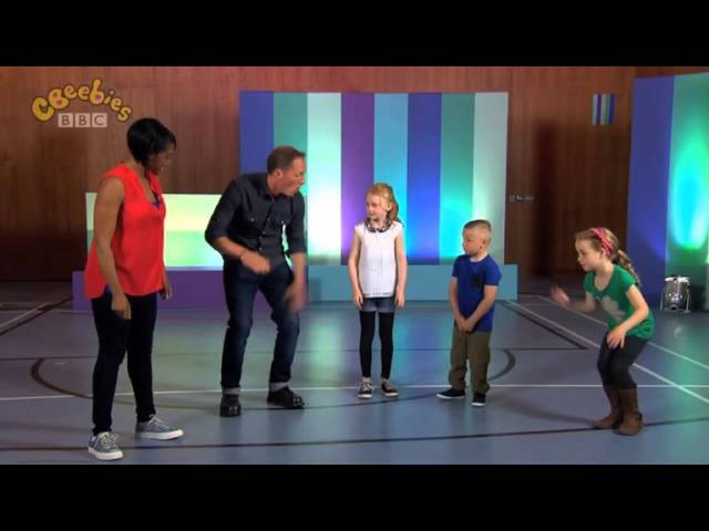 Ollie from Beat Goes On teaching Body Percussion on CBeebies Lets Go Club!