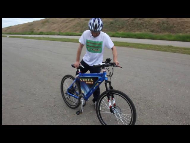 Тест драйв редукторного мини мотор колеса 48v500w Volta bikes.