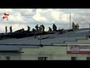 В центре Москвы потушили пожар на крыше ангара