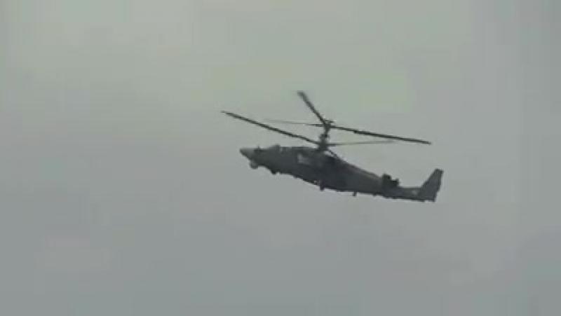 Вертолет Ка 52 Аллигатор Высший пилотаж Демонстрационный полёт на авиасалоне МАКС 2015