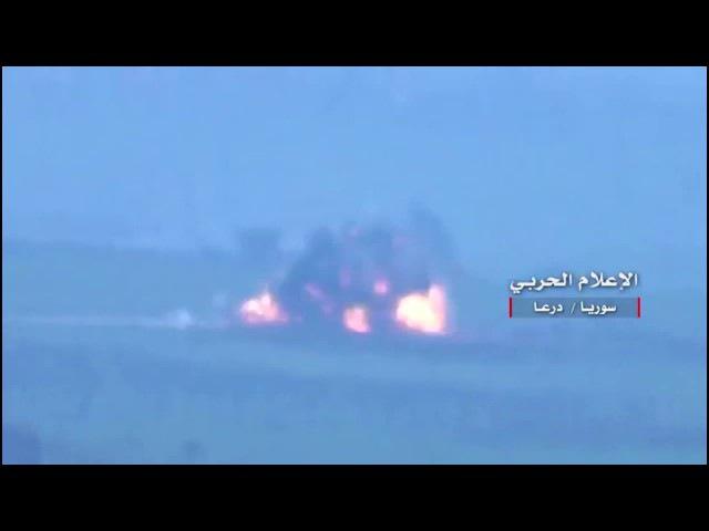 Сирия. Видео подрыва машины с бармалеями из Джа́бхат ан-Нусра в хорошем качестве...