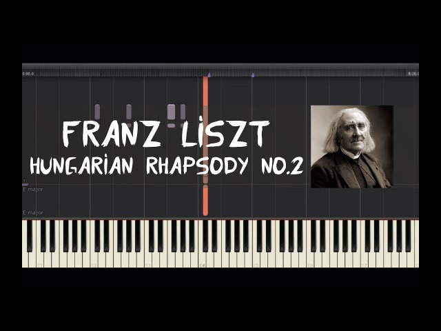 Franz Liszt - Hungarian Rhapsody No.2 - Piano Tutorial by Amadeus (Synthesia)