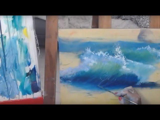Как научиться писать морскую волну за 1 вечер. Ольга Базанова