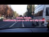 Курск, еду по Сумской улице и вдруг - впереди БТР! Было весело!