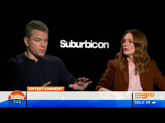 George Clooney, Matt Damon and Julianne Moore Spill Secrets From The Set of Suburbicon (2017)