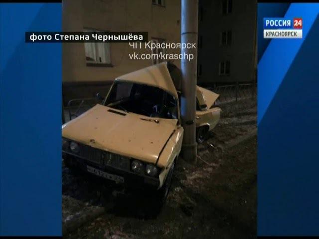 В Красноярске на улице Калинина водители стали очевидцами загадочного ДТП