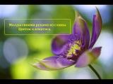 Молды из глины своими руками.Цветок клематиса.Автор Юлия Козьякова