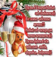 Странный праздник к нам идёт, Этот Старый Новый год! Снова полночь вместе встретим Замечательно отметим, Чтоб весёлый был народ В этот Старый Новый год!