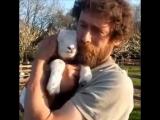 Обнимашки с милыми животными
