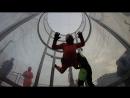 Надюшин полёт в аэротрубе имитация свободного падения