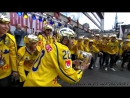Team Sweden celebrating the 2017 IIHF World Championship Gold at Sergels Torg, Stockholm