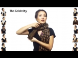 Как завязать шарфик . 25 приемов одеть шарф