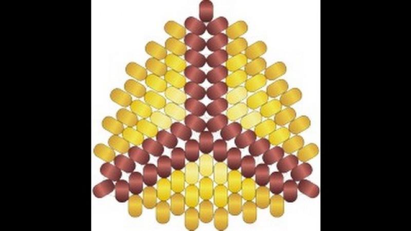Мозаичный Треугольник С Ндебельскими Гранями. Бисерный Мульт для левшей