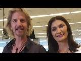 Facundo Arana & Mariana Arias en la redacción La Nacion