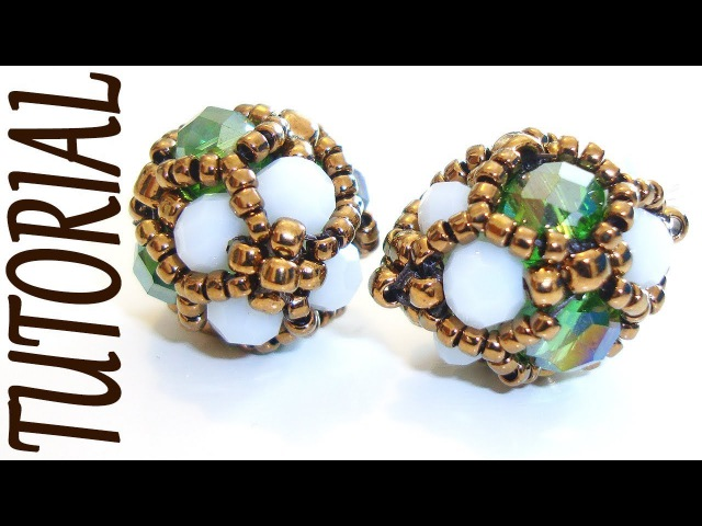 Beading tutorial - Shiny beaded component for earrings or bracelets - DIY beads jewelry