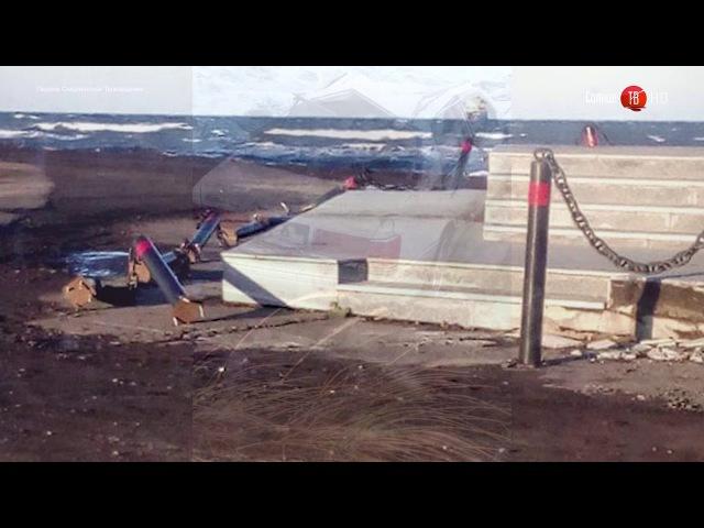 В Углегорске водитель Toyota Crown улетел в море