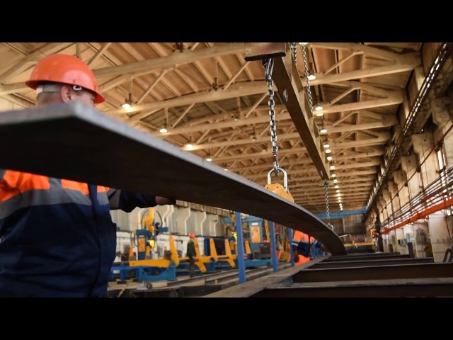 Производство двутавровой балки на заводе ООО ЛИЗСК