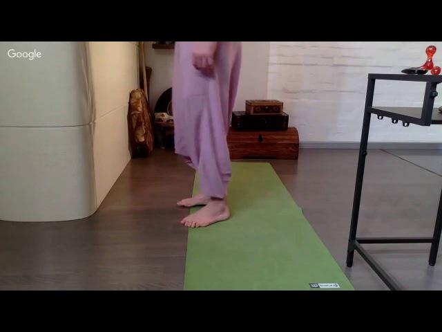 Упражнение для разгрузки кровеносной системы ног.Алексей Маматов