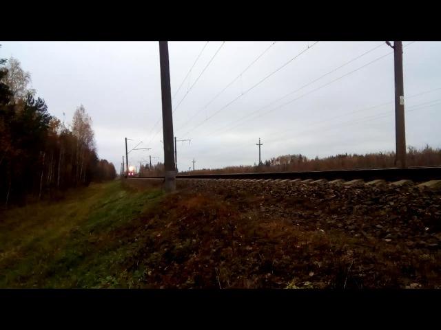Тепловоз ТЭП70БС-150 с поездом Минск - Могилев