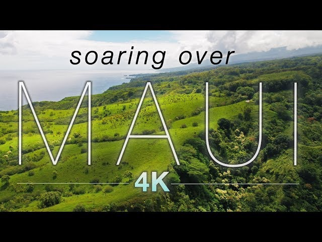 SOARING OVER MAUI [4K] Hawaii Ambient Nature Relaxation Drone Film w Music   DJI Inspire2 - 80 Min
