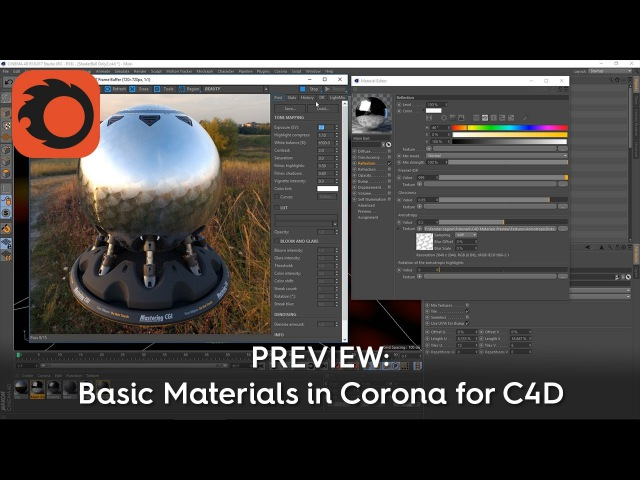 PREVIEW Basic Materials in Corona for C4D (Feb 2017)
