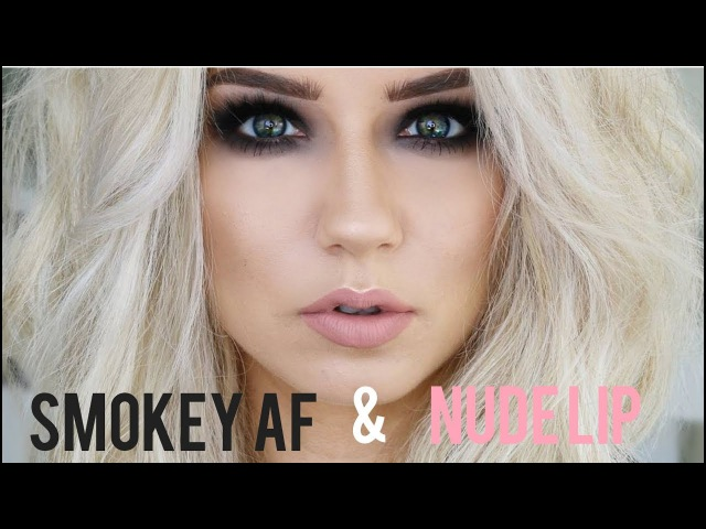 Smokey AF Eyes Nude Lip Quickie Tutorial