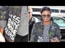 Demi Lovato Wears Less Money More Problems Graffiti Jacket At LAX